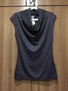 NEW H&M gray top with draped neckline