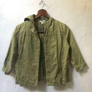 Jacket - Army Green Jacket with Hood