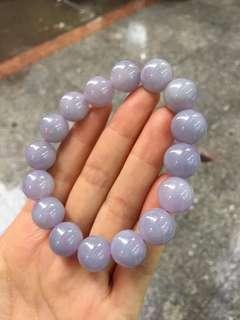 Purple jadeite lavender beads