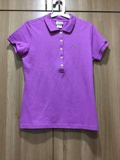NEW original Lacoste purple/violet collared shirt (women)