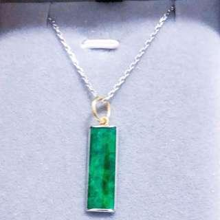 Grade A Imperial Green Jadeite Necklace (Comes with Cert & Inclusive of 18K Gold Chain‼️)