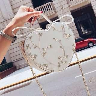 Love Embroidery Sling Bag