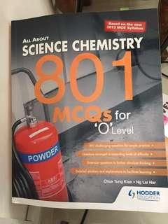 Science chemistry ( O levels )801 MCQ