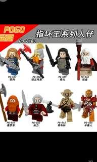 Pogo 557-564 Lord of the Rings Minifigures
