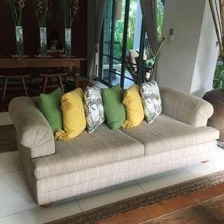 Fabric Sofa (Upholstery Needed)