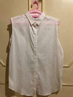 Uniqlo Stripped Button down (Pink)