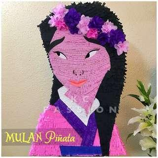 🎊 MULAN PARTY PINATA • PIÑATA Customized • Personalized • Pull String • Hit Type • Party Piñata Decoration • Table Center Piece • Photo Booth Props