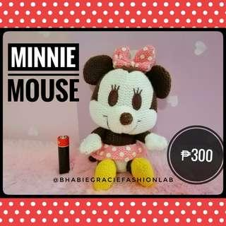 Minnie Mouse Knitted Stuffed Toy