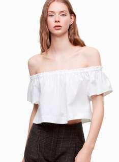 Wilfred off the shoulder blouse (blue)