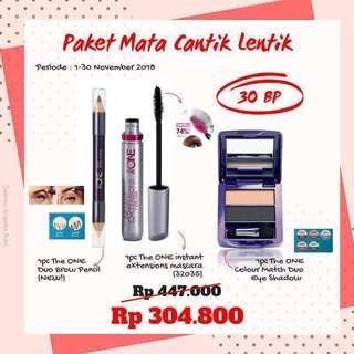 Promo bulan November The one mascara, eyeshadow & pensil Alis
