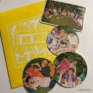 Stray Kids UNVEIL 2 I am WHO Showcase Official Goods : Group Photocard + Stickers