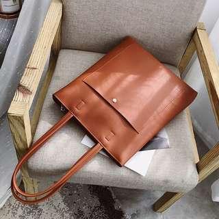 1e47e93785b7 Leather tote bag retro vintage korean ulzzang hand bag