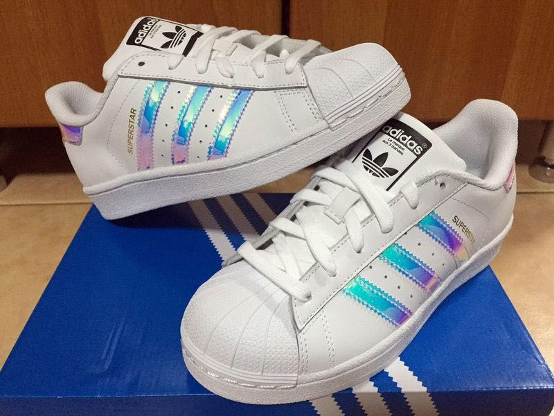 Adidas Superstar Holographic, Women's Fashion,