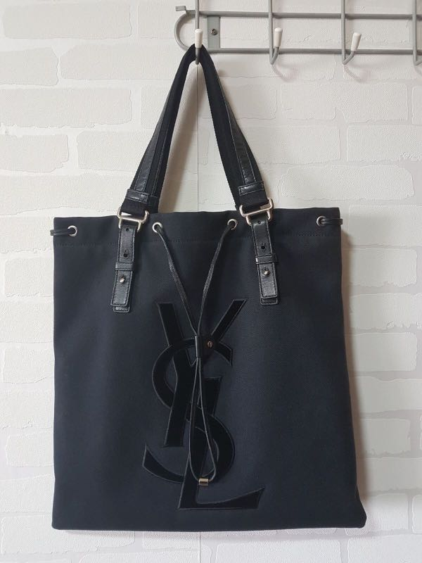 74bac0a2838ce Authentic YSL Canvas Tote Bag