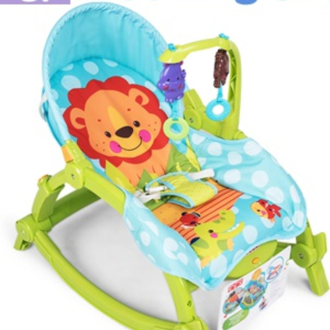 Baby Rocker Piano Gym Bouncer Swings Infant Rocking Chair