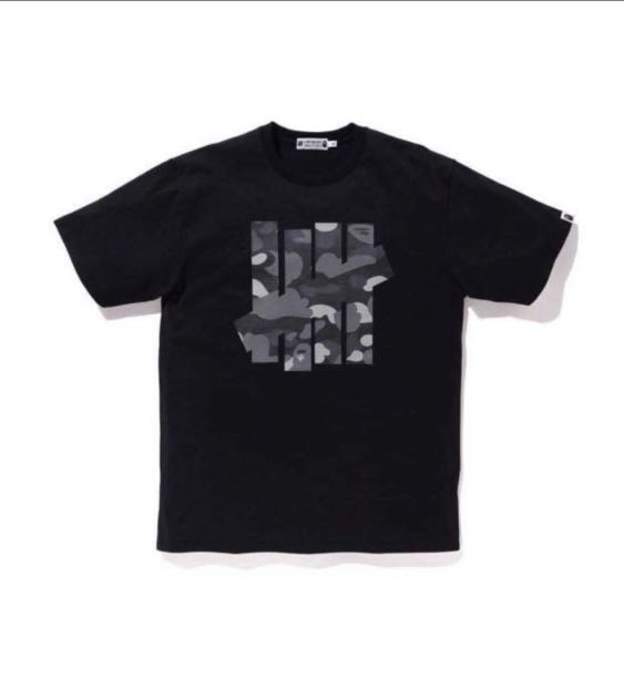 0fb98fb1 Bape X Undefeated Tee Black, Men's Fashion, Clothes, Tops on Carousell