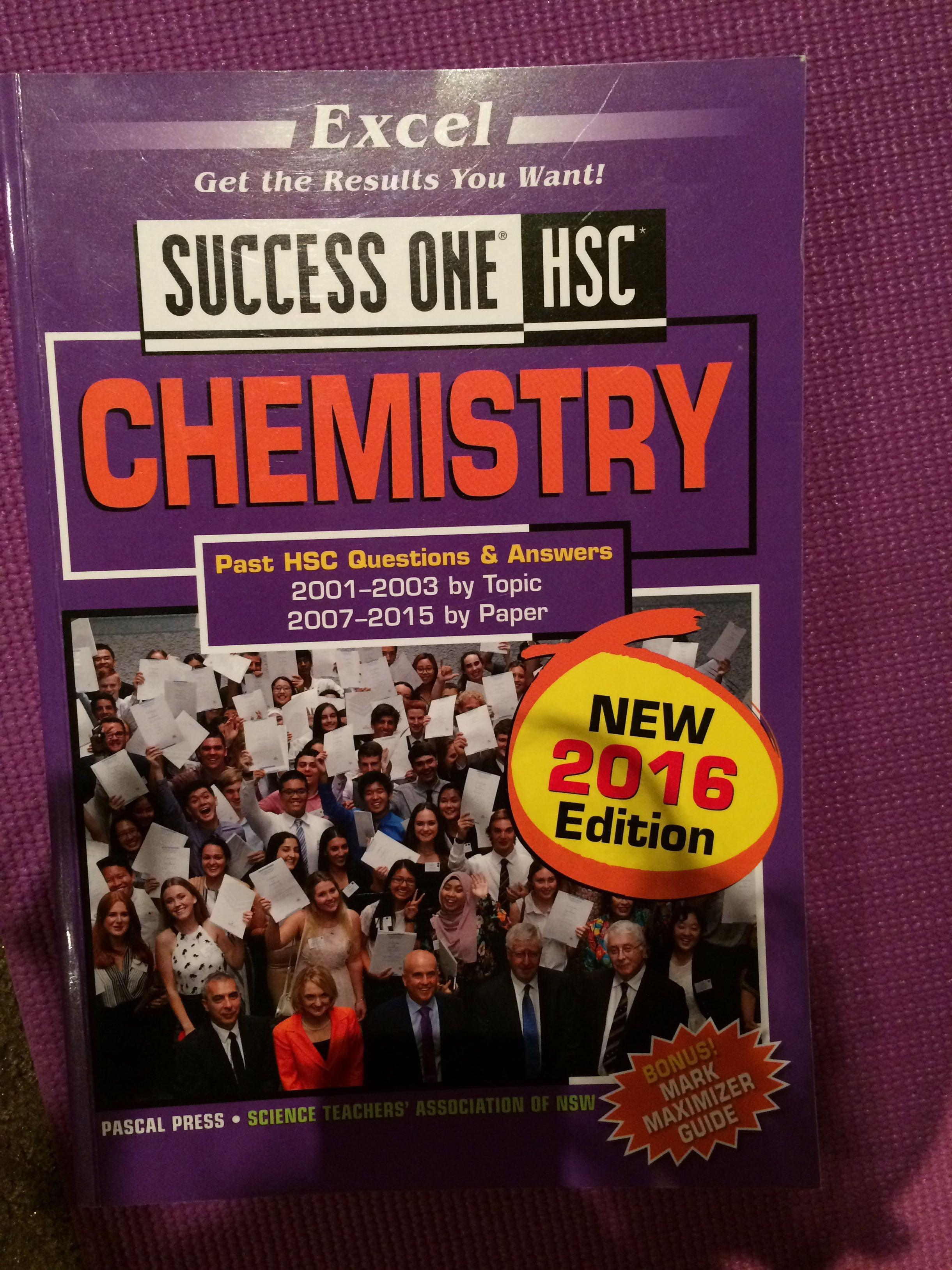 Conquering chemistry, excel chemistry, past papers