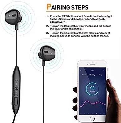 [E623] LSXD Bluetooth Headphones, V4 1 Magnetic Noise Cancelling Sweatproof  Stereo Sport Wireless Earphones Earbuds Mic Compatible iPhone X/8/8