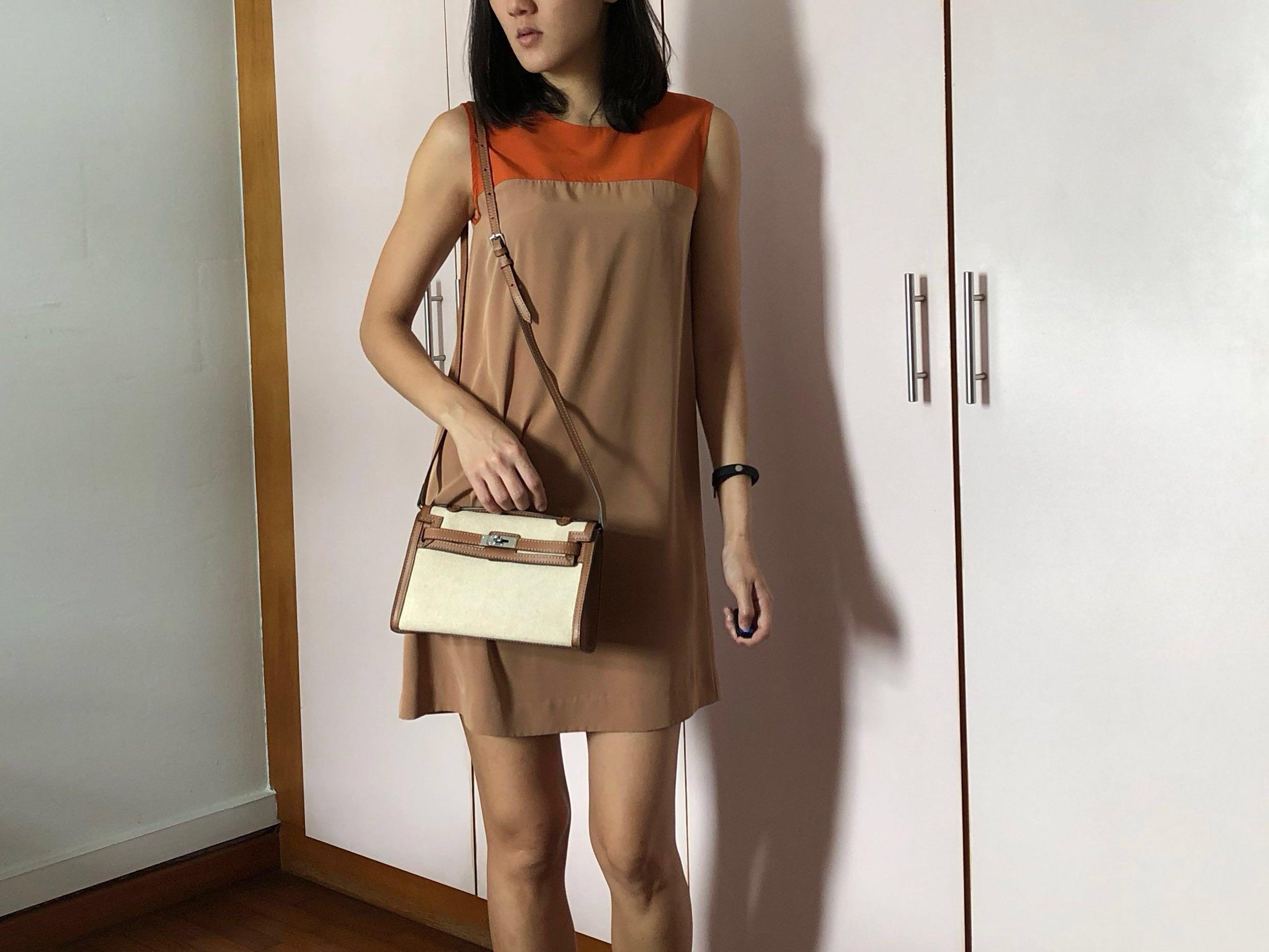 d5c4dfbedfa61 G2000 Zara H&M Silk Dress duo tone size 32, Women's Fashion, Clothes ...