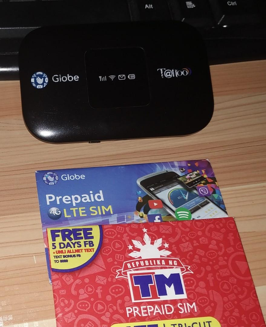 GLOBE Broadband (Black) with Globe & TM sims on Carousell