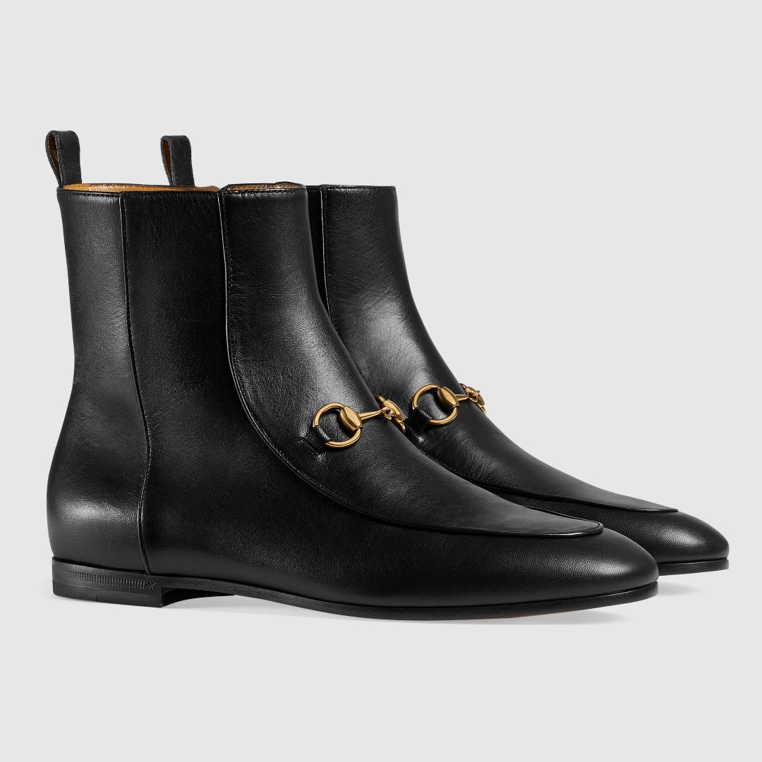 c7ede6d8fc0 Slim Gucci Jordaan leather ankle boot