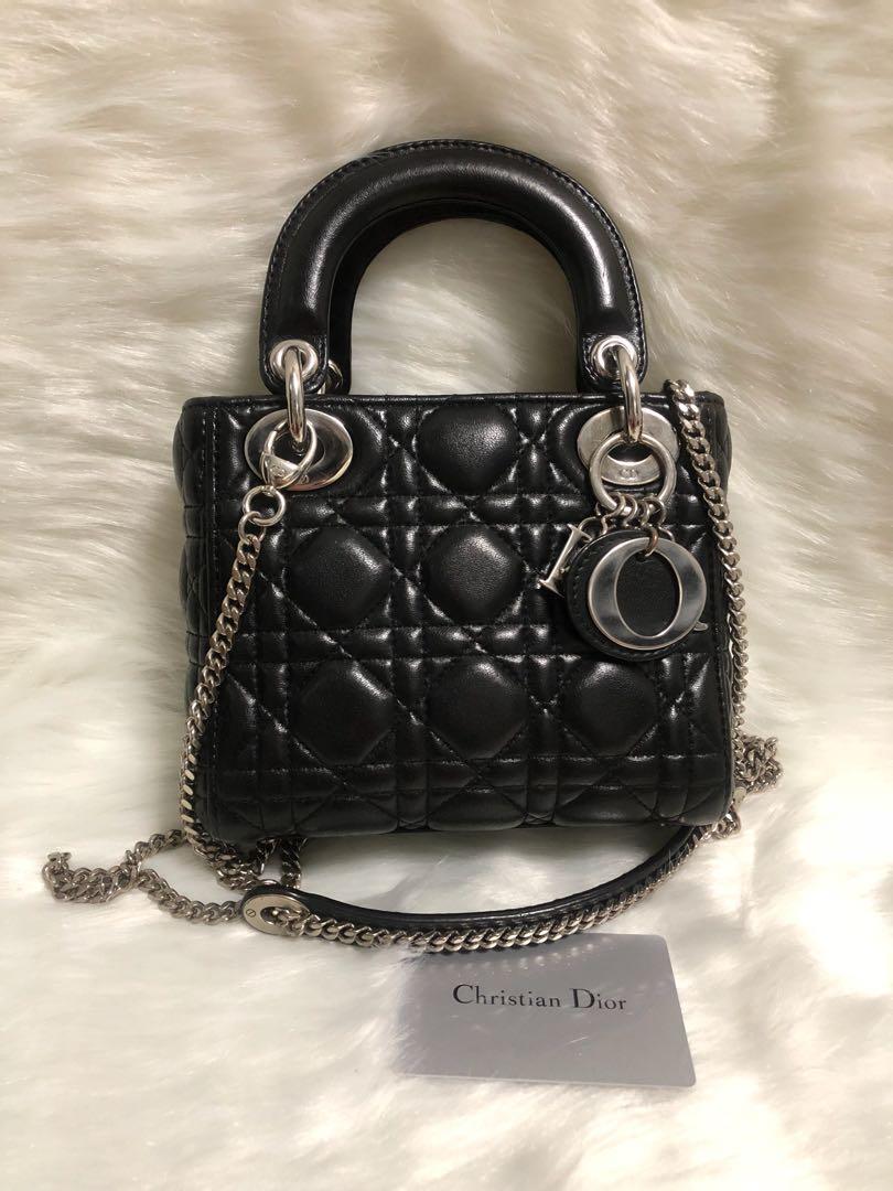 d68391d0a71a Lady Dior Black Lambskin mini