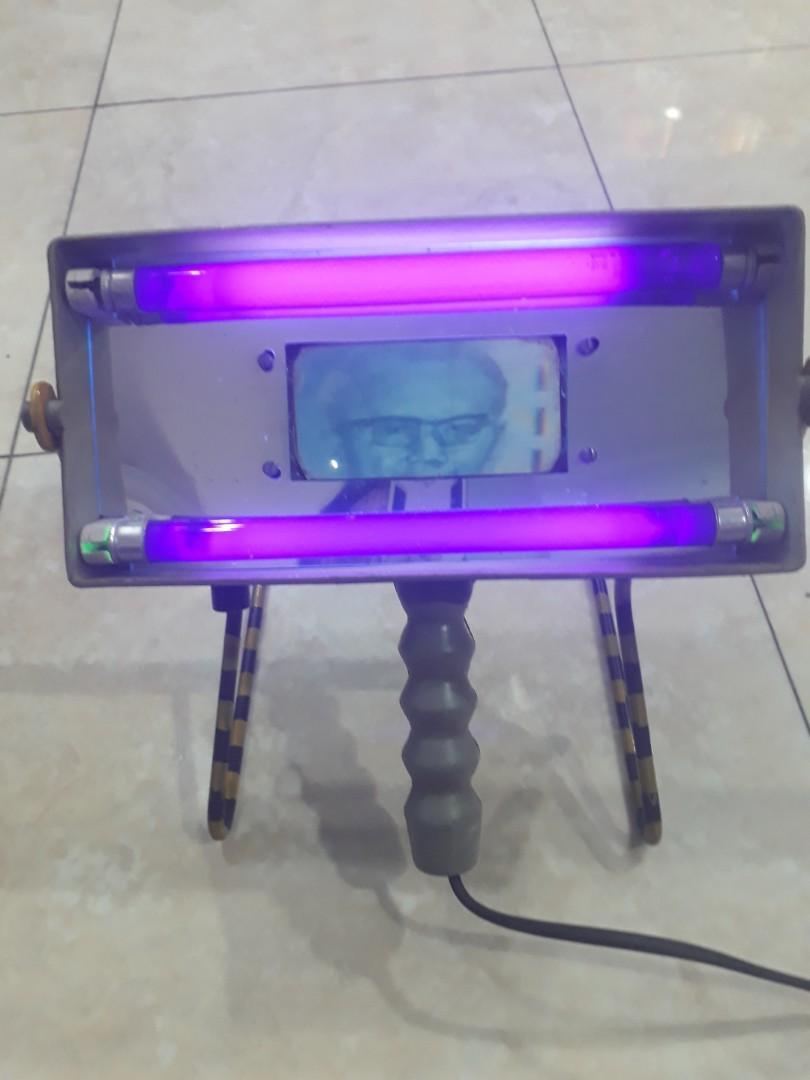 Lampu Ultra Violet Cek Uang Kertas Surat Berharga