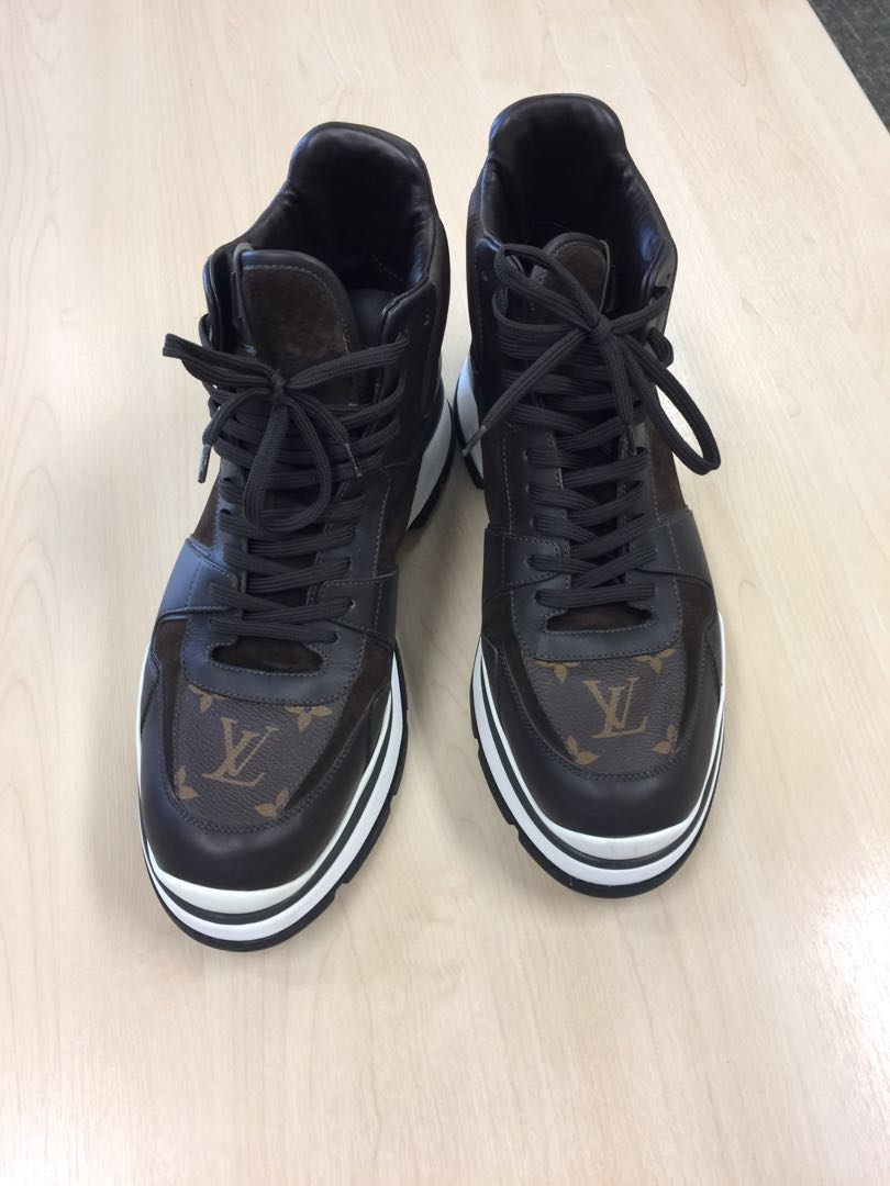 435b4ca6a3a4 LOUIS VUITTON IN MOTION SNEAKER BOOT SHOES FALL WINTER 2015 RUNWAY ...
