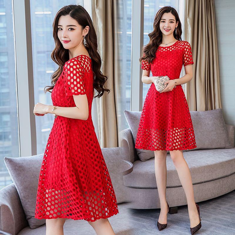 M 4xl Ladies Plus Size Crochet Dress 92773 Womens Fashion