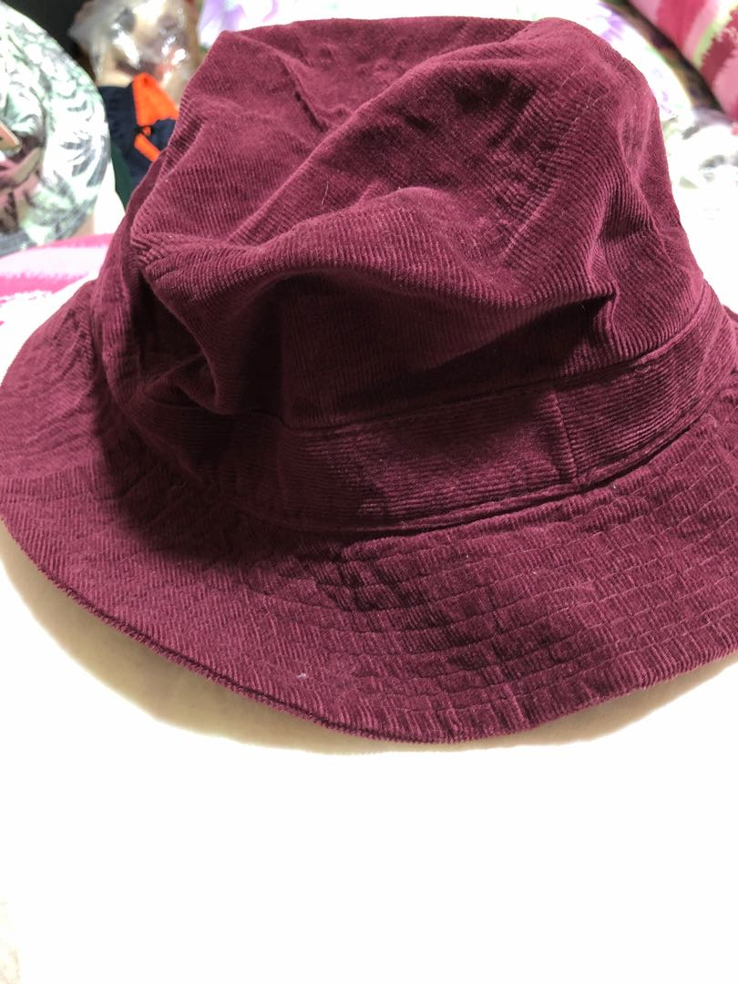 maroon bucket hat brand new 1cf27b3ba76