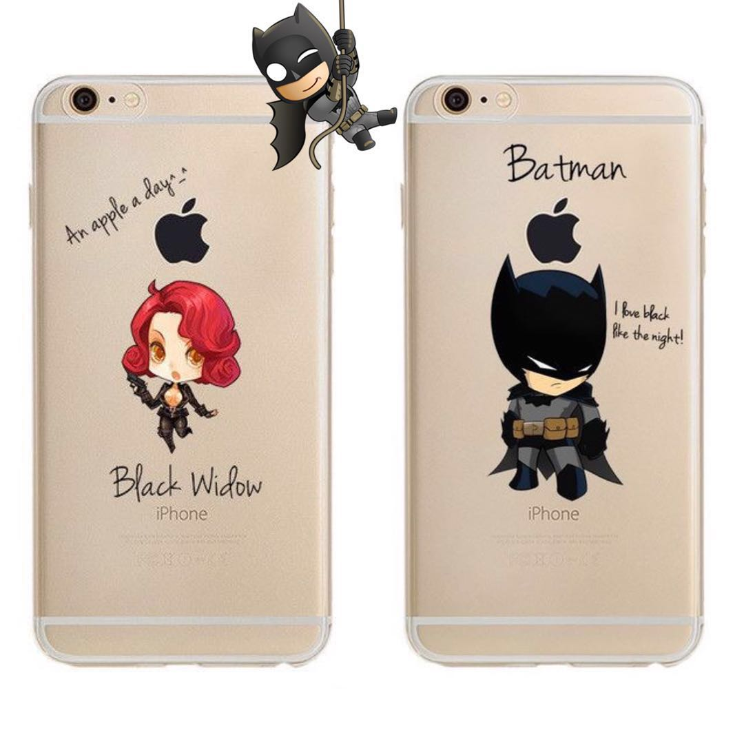 factory authentic 1779d 1ab30 🔥Marvel Blackwidow and Batman couple phone cover🔥