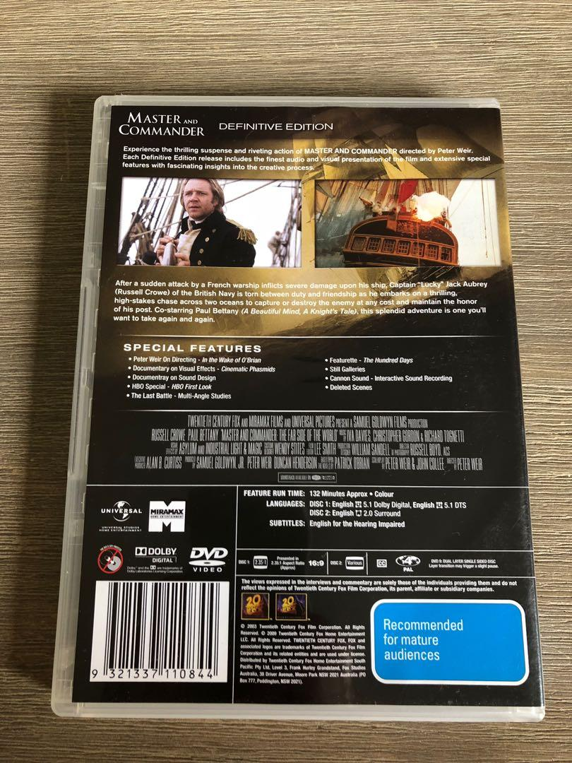 Master and Commander DVD - 2 Disc Definitive Edition