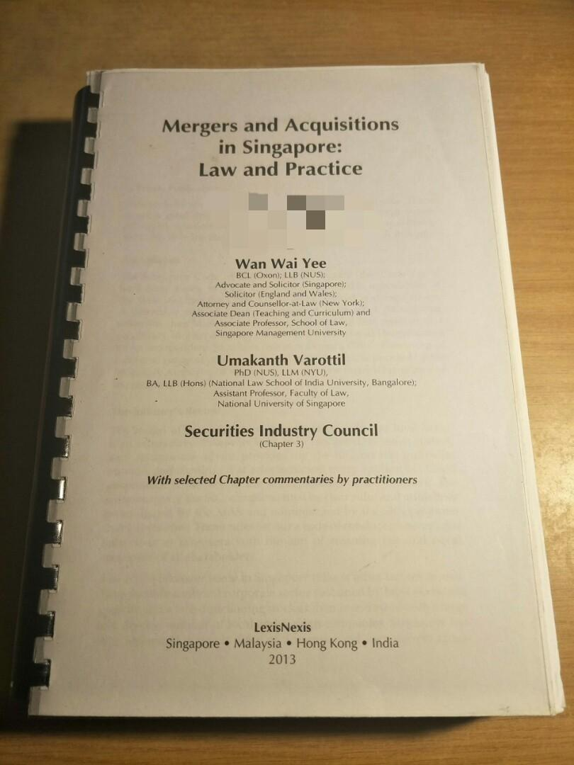 Mergers & Acquisitions in Singapore: Law and Practice by Wan