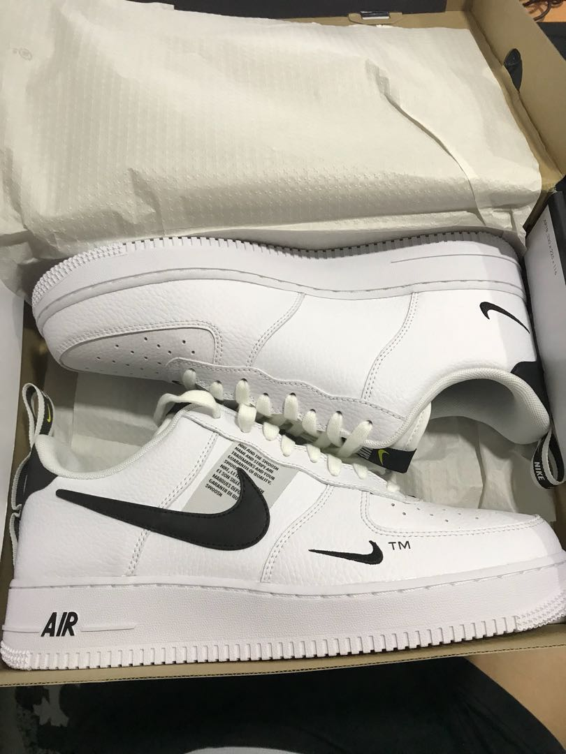 cheaper 3b04b 5cf33 Nike Air Force 1 Low Utility White Black, Men s Fashion, Footwear, Sneakers  on Carousell