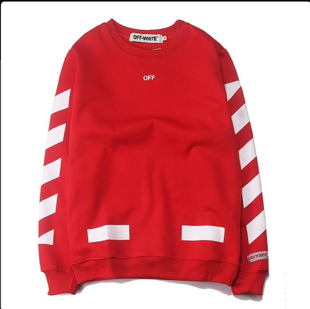 99414f8205a8 OFF WHITE Stripe C O Virgil Abloh Pyrex Vision Hoodie Red