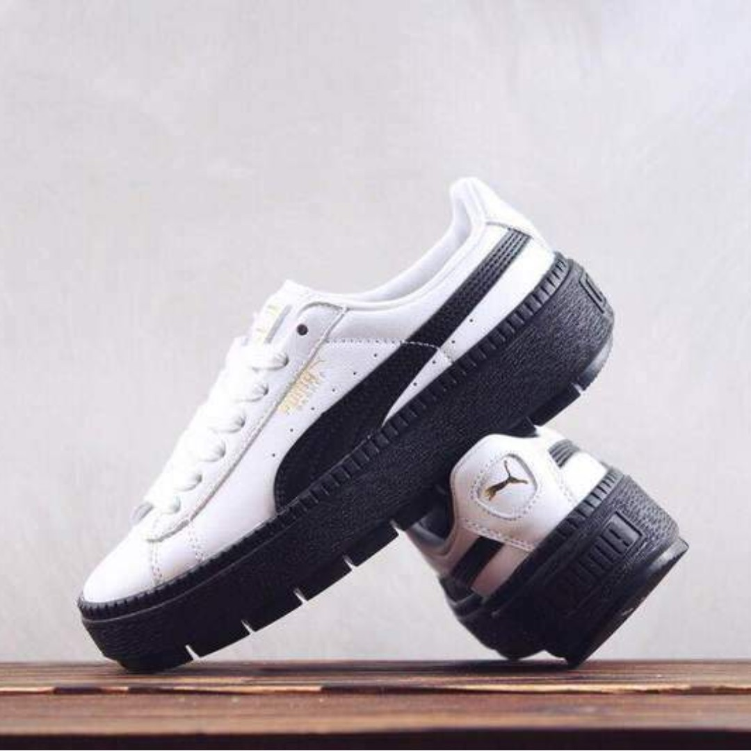 new arrival 40c81 c5558 Puma Platform Trace L Wn s White Black, Women s Fashion, Shoes, Sneakers on  Carousell