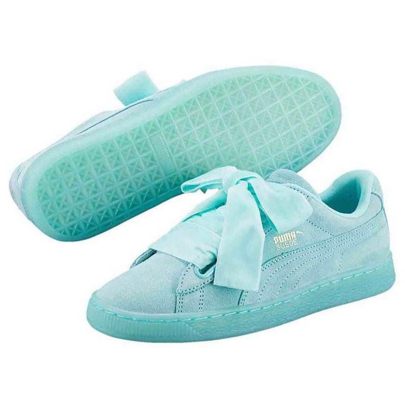 huge discount 88993 a0a40 Puma Suede Heart Reset Blue Size UK 5