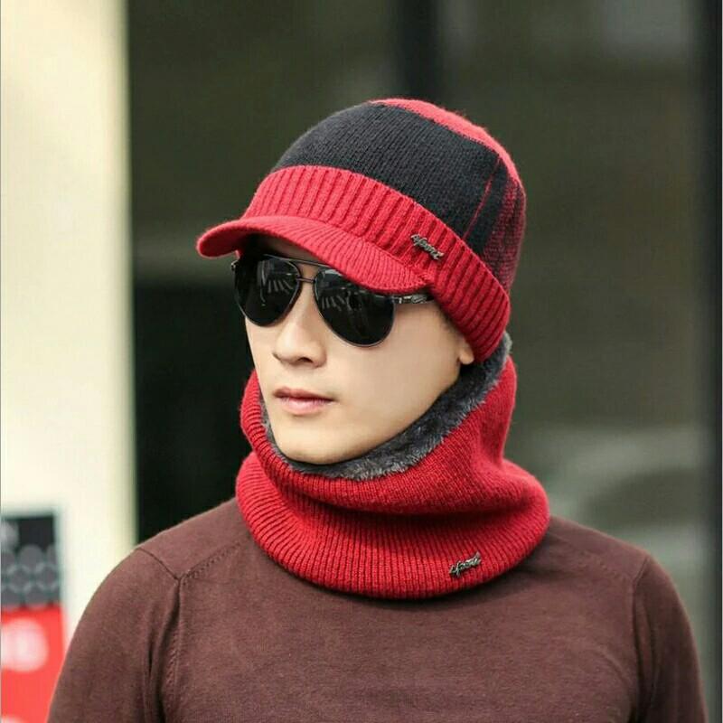 f2ec1ca2005ef Set Winter Hats Skullies Beanies Hat Winter Beanies For Men Women Scarf Caps  Mask Knitted Hat