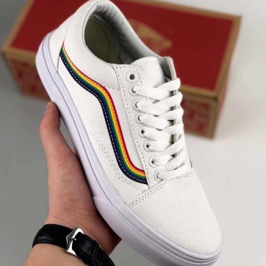 vans old skool rainbow skate