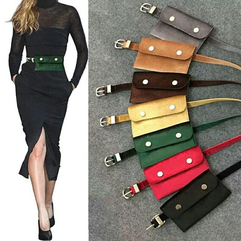 042fd9627b2e Waist Bag Women Velour Waist Fanny Pack For Women Fashion Retro Hip ...