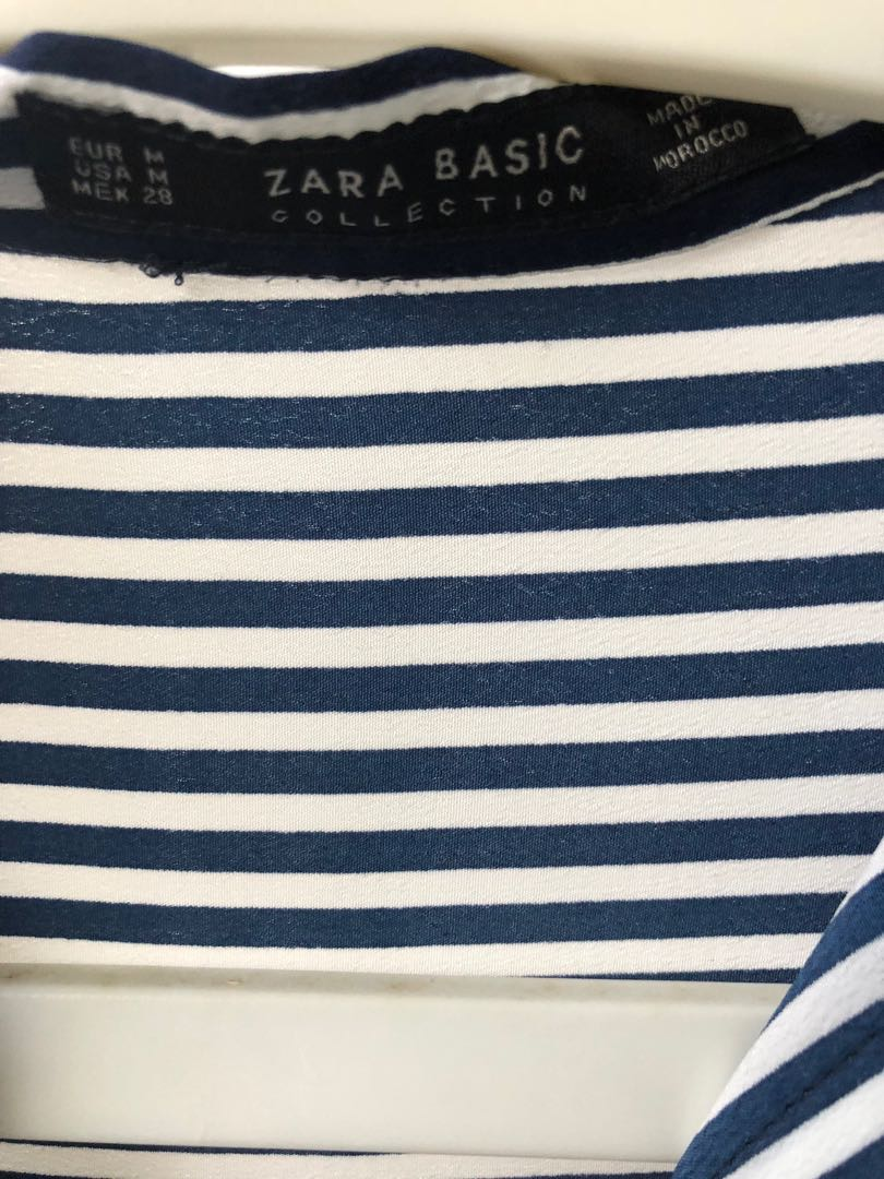 34c6d69c3d26d ZARA formal blue and white striped shirt
