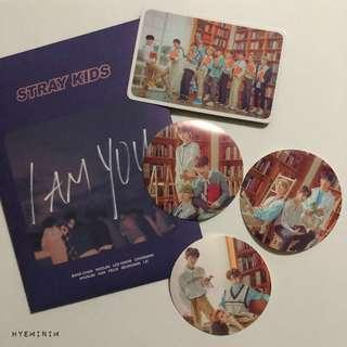 Stray Kids UNVEIL 3 I am YOU Showcase Official Goods : Lucky Envelope Group Photocard + Stickers