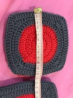 Hand crochet 100% cotton pot holder and hot pad