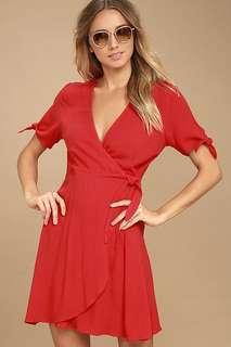 Wrap dress v neck mini dress
