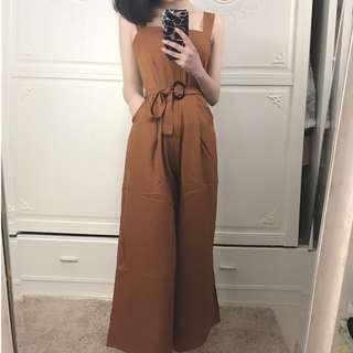 Wide Leg Jumpsuit With Belt