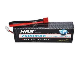 4🔥HRB Lipo 2S 2P Battery 7.4V 7000mah 30C