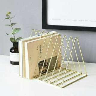 Triangle Gold Book Rack