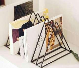 Black Triangle Book Rack