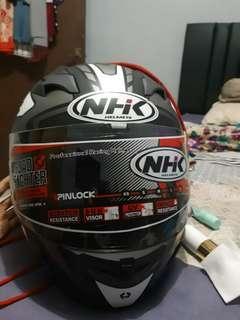 HELM NHK GP 1000 BLACK SILVER DOFF