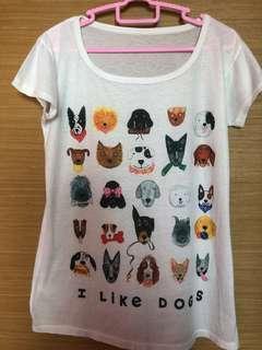 🚚 'i like dogs' t-shirt